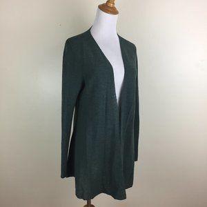 EILEEN FISHER 100% Wool Open Front Knit Cardigan